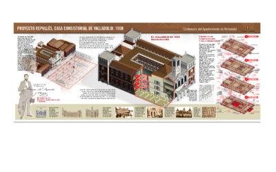 Centenario Ayuntamiento de Valladolid. Infografía